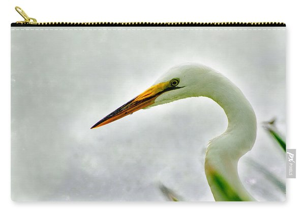 Egret Close-up Carry-all Pouch