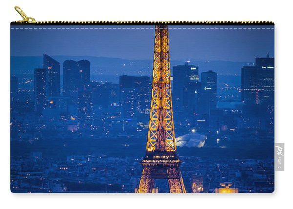 Carry-all Pouch featuring the photograph Eiffel Tower At Twilight by Brian Jannsen