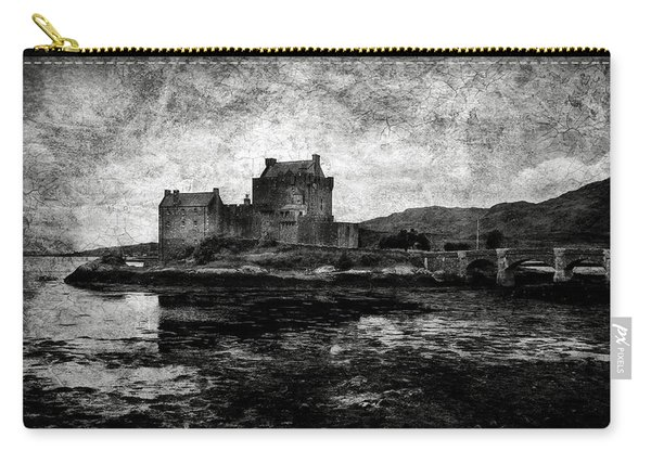 Eilean Donan Castle In Scotland Bw Carry-all Pouch