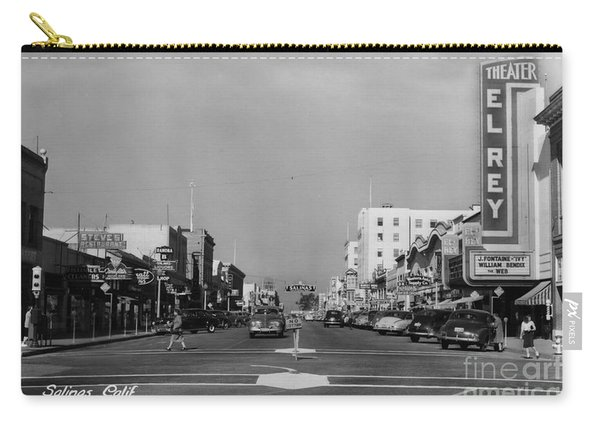 El Rey Theater Main Street Salinas Circa 1950 Carry-all Pouch