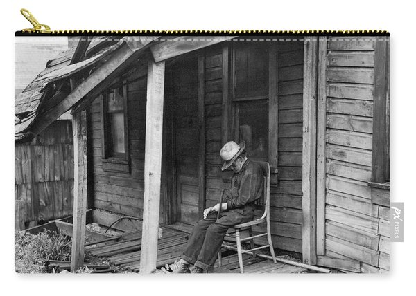 Elderly Man Doses On His Porch Carry-all Pouch
