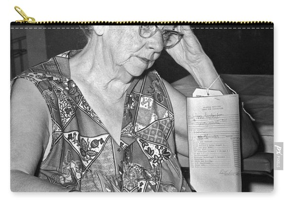 Elderly Woman At Hospital Carry-all Pouch