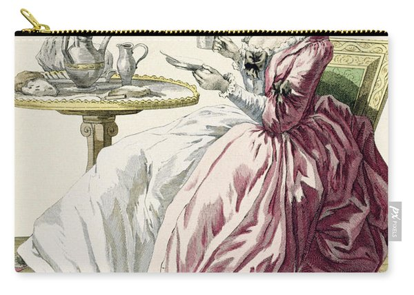 Elegant Woman In A Dress A Langlaise Carry-all Pouch