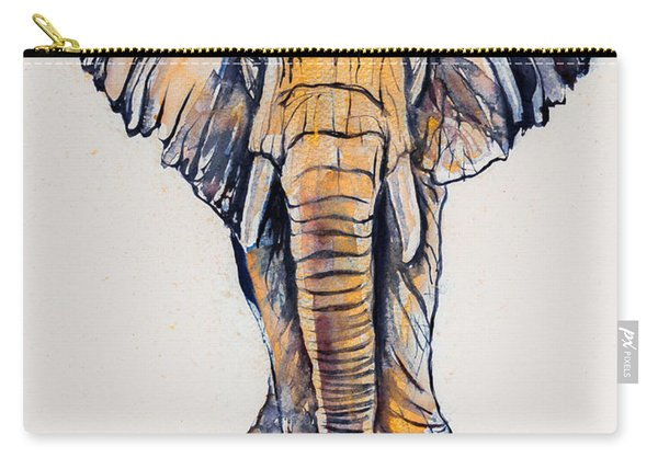 Elephant In Gold Carry-all Pouch