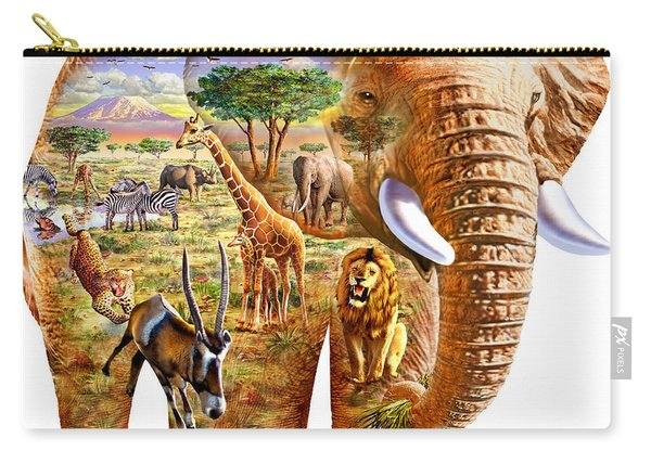 Elephant Puzzle Carry-all Pouch