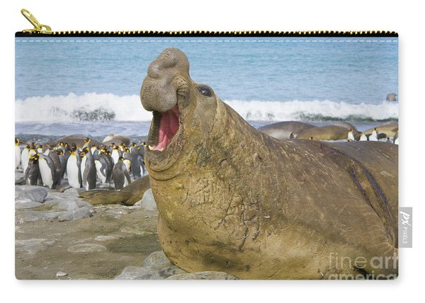 Elephant Seal Roaring Carry-all Pouch