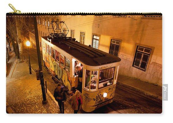 Elevador Da Gloria At Night In Lisbon Carry-all Pouch