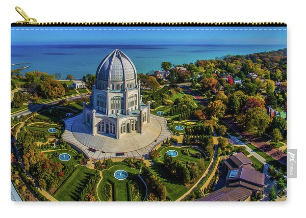 Elevated View Of Bahai Temple Carry-all Pouch