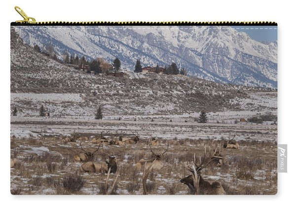 Elk And The Grand Tetons Carry-all Pouch