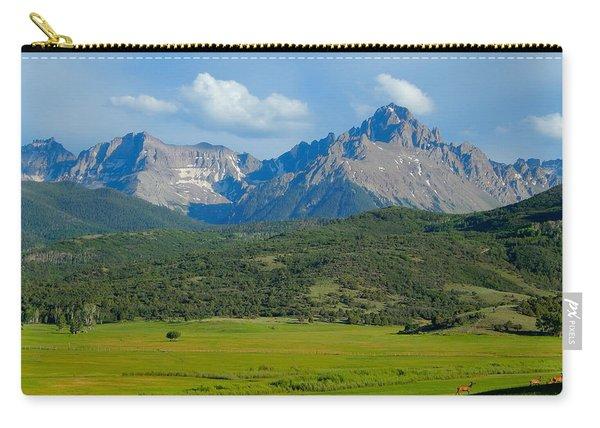 Elk Below Mount Sneffels Carry-all Pouch