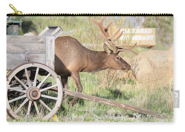 Elk Drawn Carriage Carry-all Pouch