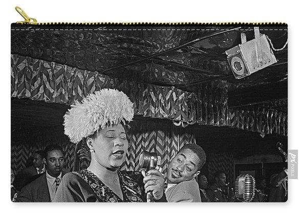 Ella Fitzgerald And Dizzy Gillespie William Gottleib Photo Unknown Location September 1947-2014. Carry-all Pouch
