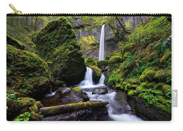 Carry-all Pouch featuring the photograph Elowah Falls by Dustin  LeFevre