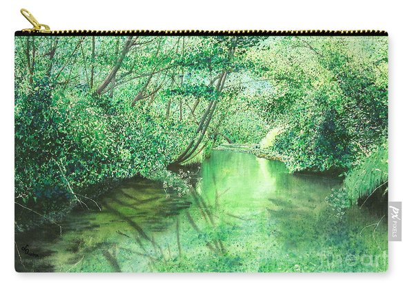 Emerald Stream Carry-all Pouch