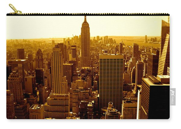 Manhattan And Empire State Building Carry-all Pouch
