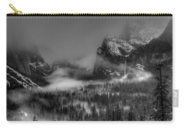 Enchanted Valley In Black And White Carry-all Pouch