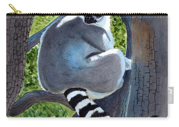 Endangered Ringed Tail Lemur Carry-all Pouch