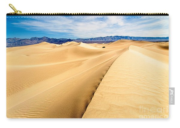 Endless Dunes - Panoramic View Of Sand Dunes In Death Valley National Park Carry-all Pouch