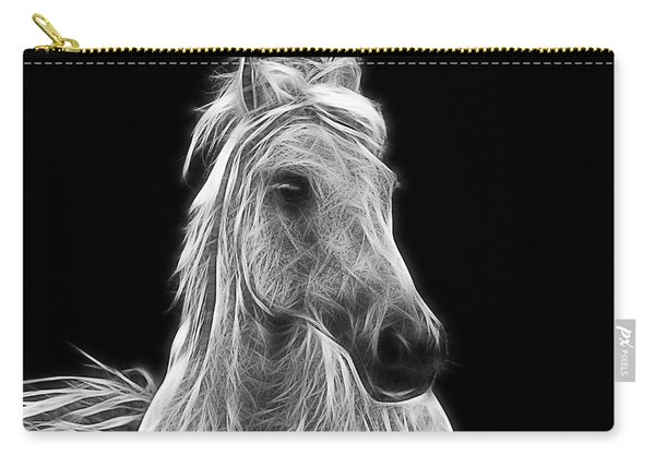 Energetic White Horse Carry-all Pouch