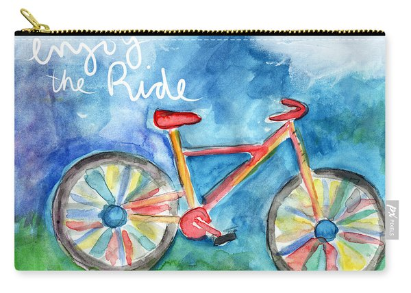 Enjoy The Ride- Colorful Bike Painting Carry-all Pouch