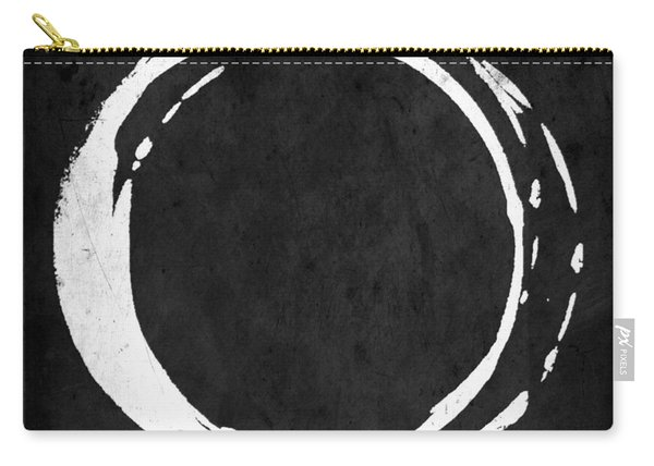 Enso No. 107 White On Black Carry-all Pouch