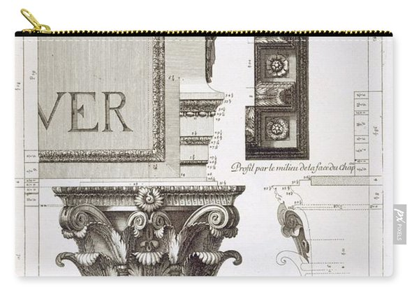 Entablature, Capital And Inscription Carry-all Pouch
