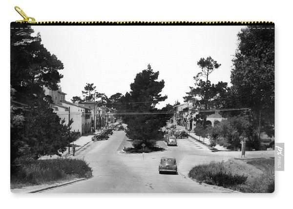 Entering Carmel By The Sea Calif. Circa 1945 Carry-all Pouch