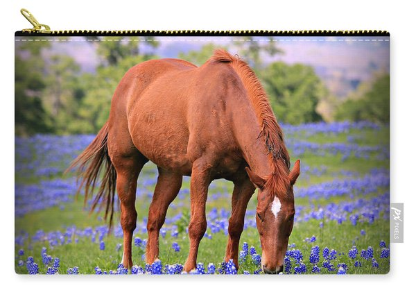Equine Bluebonnets Carry-all Pouch
