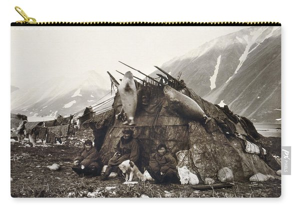Eskimo Dwelling, C1899 Carry-all Pouch