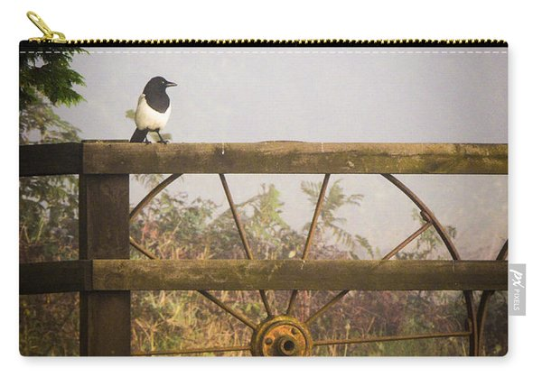 Eurasian Magpie In Morning Mist Carry-all Pouch