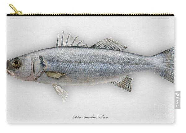 European Seabass Dicentrarchus Labrax - Bar Commun - Loup De Mer - Lubina - Havabor - Seafood Art Carry-all Pouch