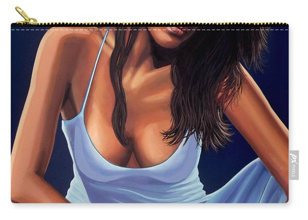 Eva Mendes Painting Carry-all Pouch