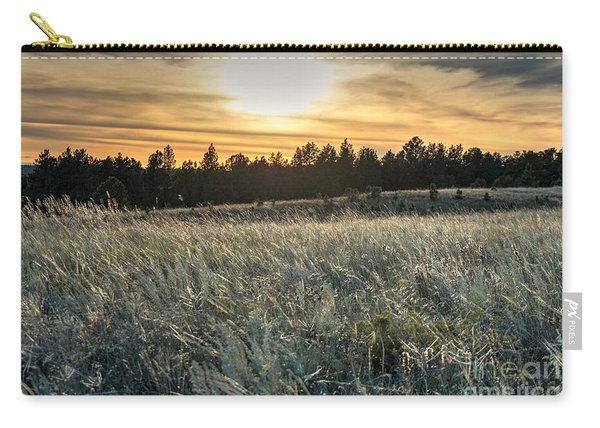Carry-all Pouch featuring the photograph Evening Grasses In The Black Hills by Bill Gabbert
