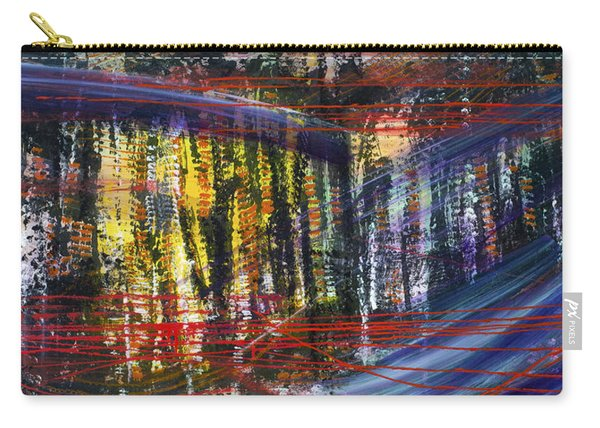 Evening Pond By A Road Carry-all Pouch