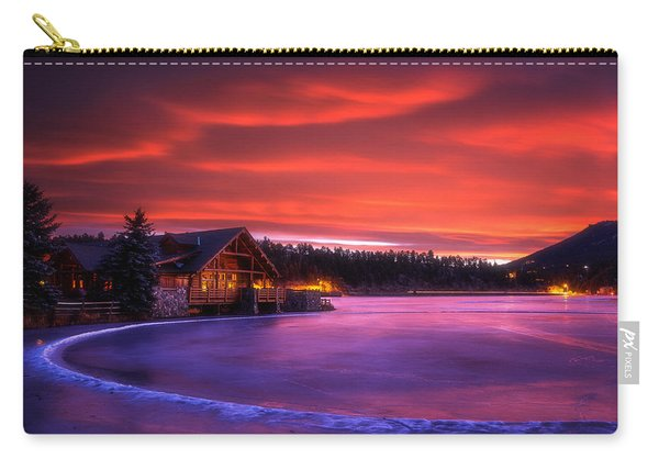 Evergreen Lake Sunrise Carry-all Pouch