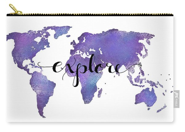 Explore World Map Painting Carry-all Pouch