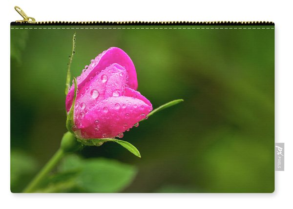 Extreme Close Up Of A Wild Rose Bud Carry-all Pouch