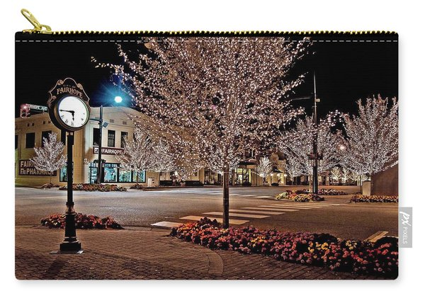 Fairhope Ave With Clock Night Image Carry-all Pouch