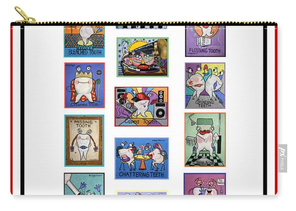 Falboart Tooth Chart Number 2 Carry-all Pouch
