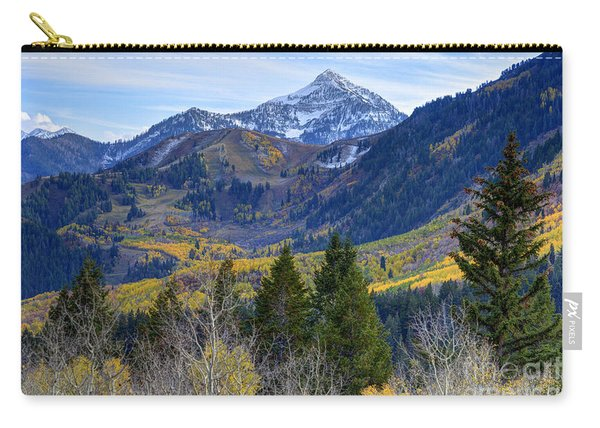 Fall At Cascade Peak And Sundance From Alpine Loop  Carry-all Pouch