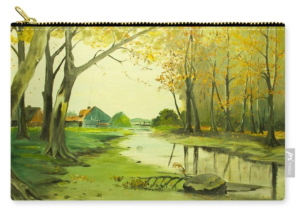 Fall By The Stream By Merlin Reynolds Carry-all Pouch