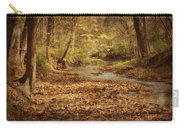 Carry-all Pouch featuring the photograph Fall Creek by Michael Colgate