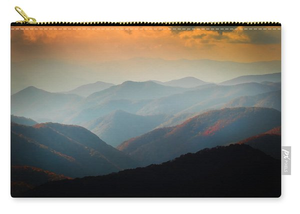 Fall Foliage Ridgelines Great Smoky Mountains Painted  Carry-all Pouch