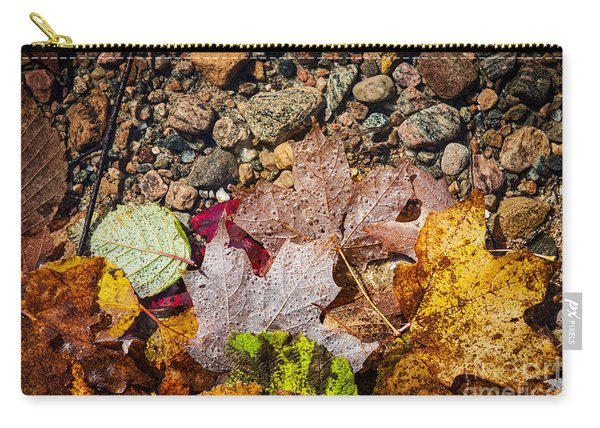 Fall Leaves In Water Carry-all Pouch