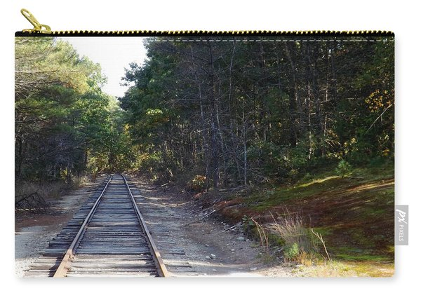 Fall Railroad Track To Somewhere Carry-all Pouch