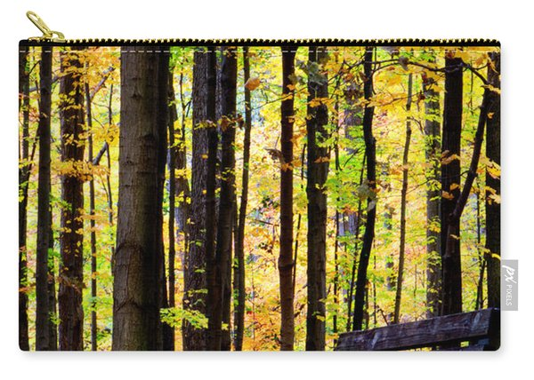 Fall Woods In Michigan Carry-all Pouch