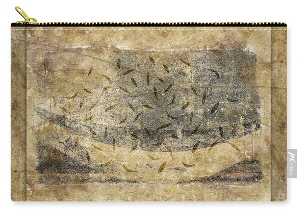 Falling Leaves Crescent Moon Carry-all Pouch
