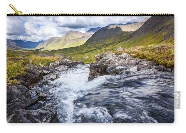 Carry-all Pouch featuring the photograph Falls With A View by Tim Newton