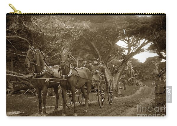Family Out Carriage Ride On The 17 Mile Drive In Pebble Beach Circa 1895 Carry-all Pouch