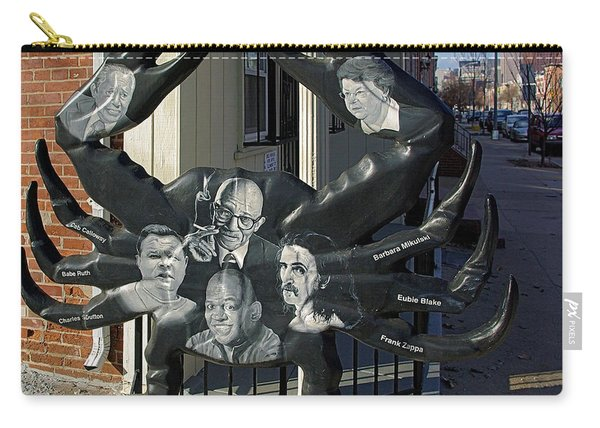 Famous Baltimoreans Art Crab  Carry-all Pouch